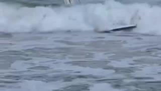 Isarf wavestormlife guy faceplants into water surf water