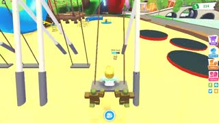 Trying to ride a swing in circles (Adopt Me) #shorts