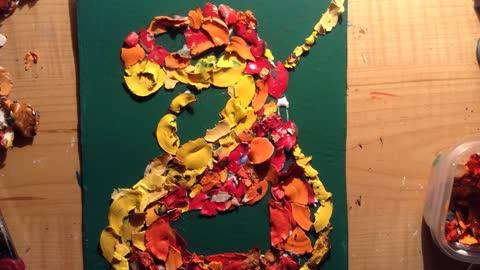 Autumn adder mosaic