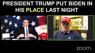 President Trump Put Joe Biden in His PLACE!