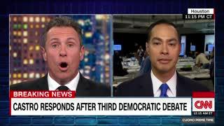 Chris Cuomo questions Julian Castro about attack on Biden