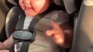 baby dancing and happy