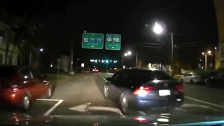 Dashcam- Lost driver almost causes accident