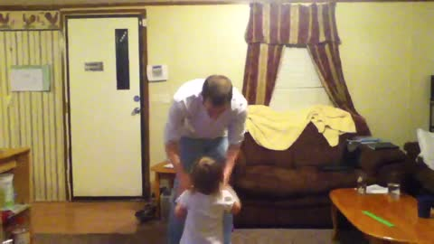 Emma and Daddy dancing #1