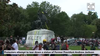 Attempt to take down Andrew Jackson memorial