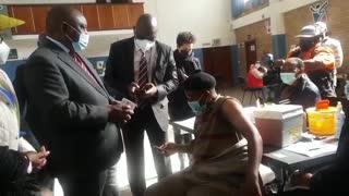 Ramaphosa tours Covid-19 vaccination sites in Gauteng