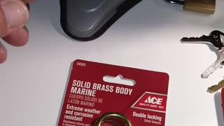 ACE all brass padlock picked open