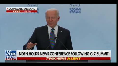 President Joe Biden Goes Off Script - Starts Mumbling Nonsense in G7 Speech