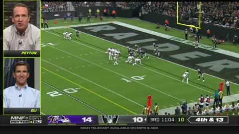 Peyton & Eli Manning Monday Night Football Highlights