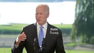 Biden Mumbles Than Confuses Putin With Trump Hilarious !