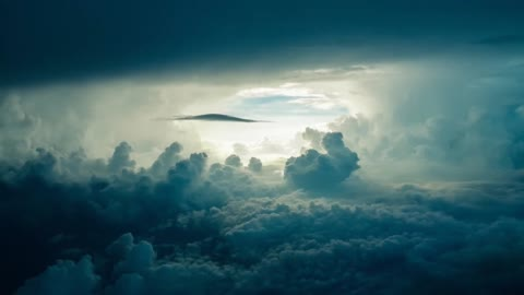 Storm and thundercloud sky, the wonder of nature