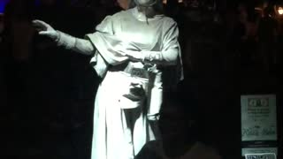 Moving Statue