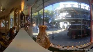 NEW ORLEANS: Surveillance Video NOPD officers ambushed on Royal Street