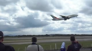Plane aborts landing just inches from the runway!