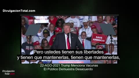 08/22/2021 Trump Got Some Boos After Recommending Vaccines in Alabama (Spanish Subtitles)