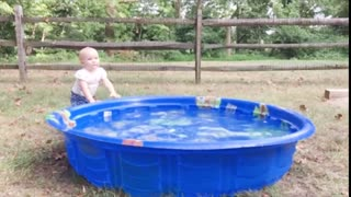 Funny Baby Playing With Water 2 - Baby Outdoor Video
