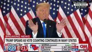 President Trump post election speech