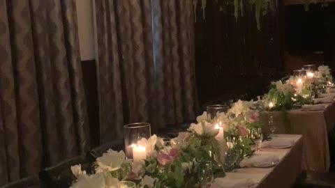 Wedding Decor at Restaurant