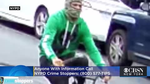 NYPD Searching for Man Seen on Video Stabbing Delivery Worker In Back With Knife on Bicycle