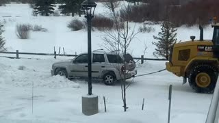SUV Should Have Stayed in for Snow Day