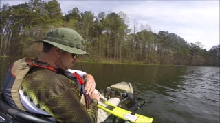Hollis Q. Lathem Reservoir in April - Pre-Spawn /Start of Spawn