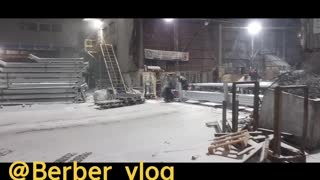 Work in South korea under snow, bad conditions