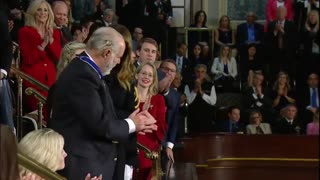 Rush Limbaugh awarded Presidential Medal of Honor at State of the Union address