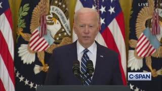 Biden Experiences Brief Malfunction During First Presser