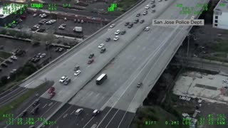 Carjacked UPS Truck Police Chase... Man Bails With Shotgun...