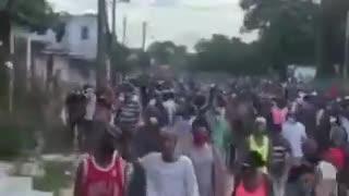 Cubans demanding an end to the communist dictatorship
