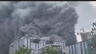 China: Huawei Lab on Fire