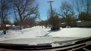 Historic Gruene Texas Record Snow Drive Feb 15 2021