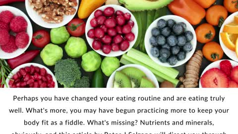 Peter J Salzano - The Ins And Outs of Vitamins and Minerals