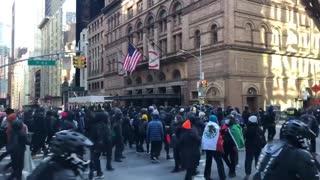 Antifa marching in New York, Media Silent