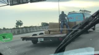 Strange Way to Secure a Load
