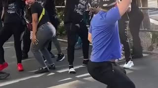 Mad Dance in public place