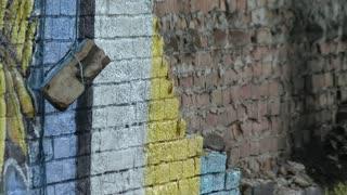 George Floyd wall mural gets destroyed by lightning strike.