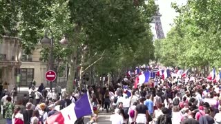 Thousands protest against Macron's health pass