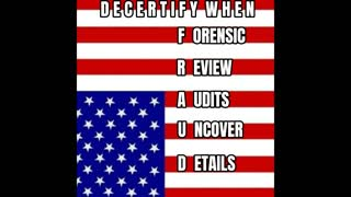 Decertify when FRAUD is uncovered by Full Forensic Audits!