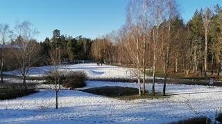 Winter Sweden the sun