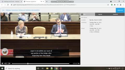 Legislature hearings on ARDOT I40 bridge FAIL, how did only 1 person fail to see break in bridge