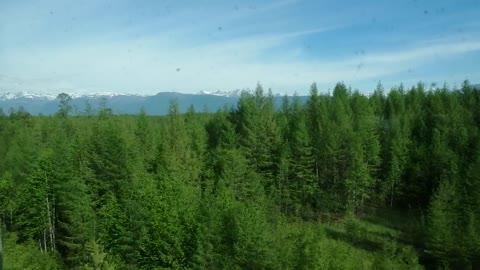 We are going by train along the Baikal Amur railway.