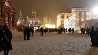 Moscow red square on winter
