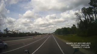Car Takes Spectacular Tumble on Interstate