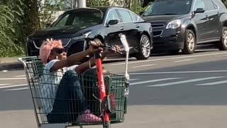 Casual Saturday in Detroit for Scooter Cart Rider