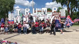 Holly Michigan Back the Blue / Trump Rally