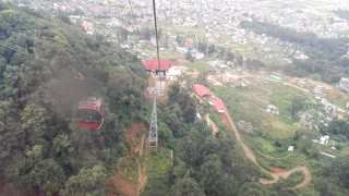 timelaps of kathmandu valley from cable car of chandragiri hills