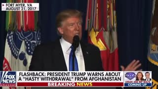 AUG 21, 2017 Donald Trump talks about Afghanistan