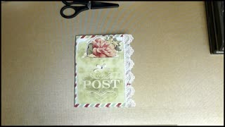 Create a mini journal from a card kit