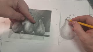 How to draw these pears